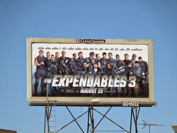 The Expendables3 billboard